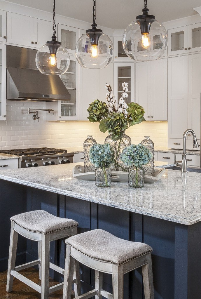 Navy & Marble Kitchen