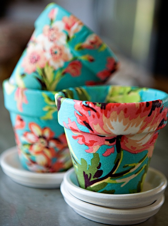 Pretty Floral Flower Pots