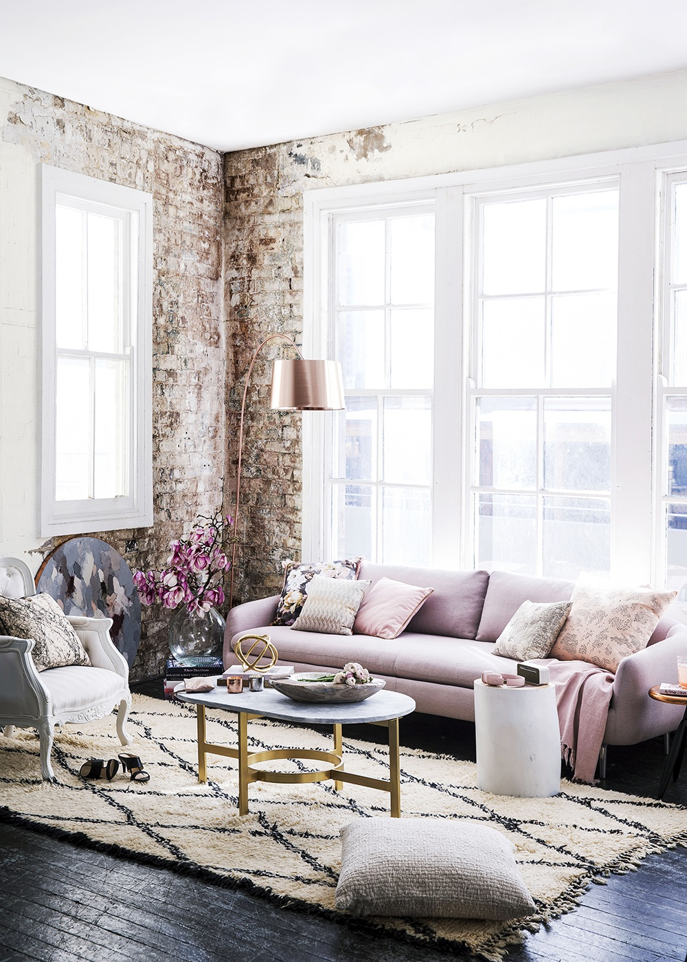 Romantic & Industrial Living Room