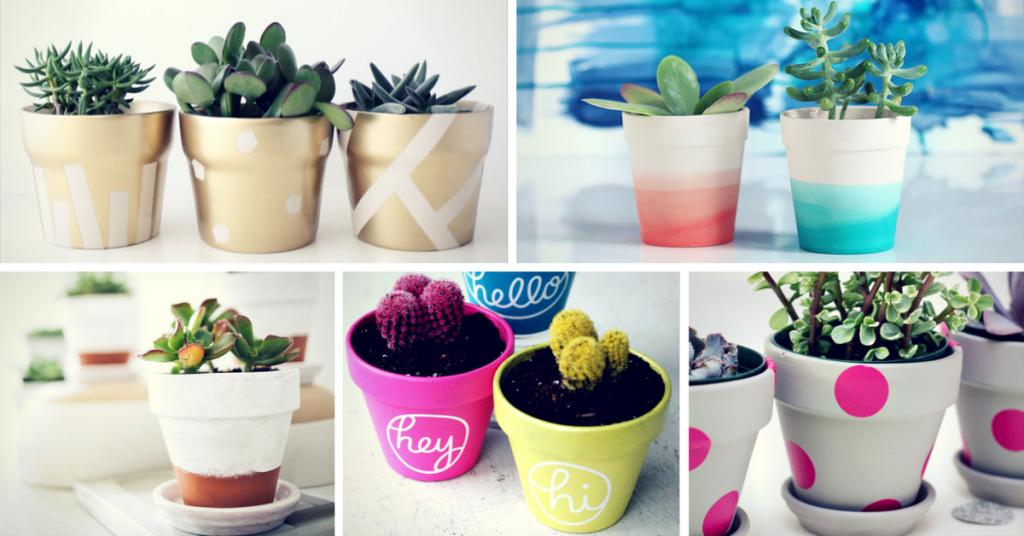 Simple DIY Ways To Customize & Paint Terra Cotta Pots