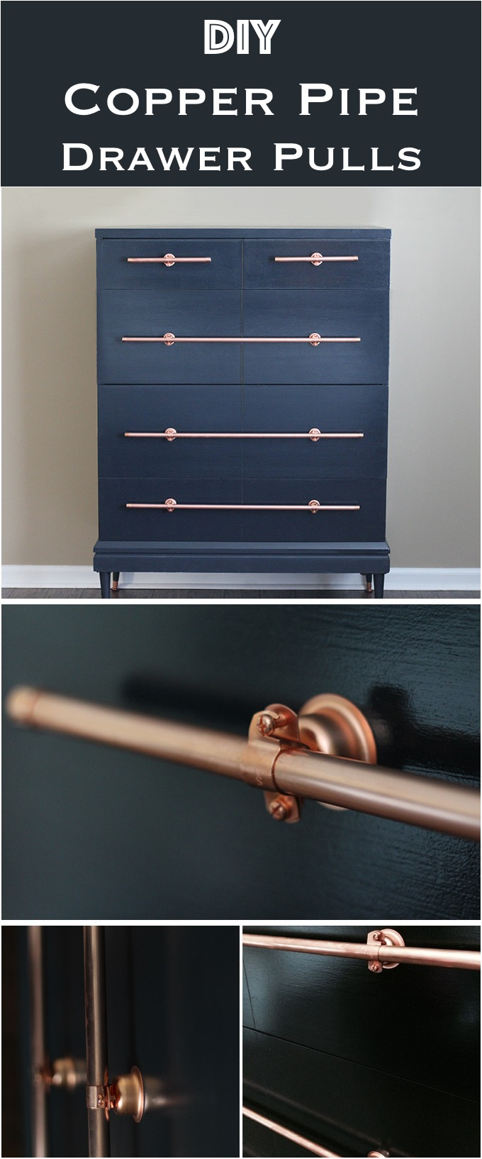 DIY Copper Pipe Drawer Pulls