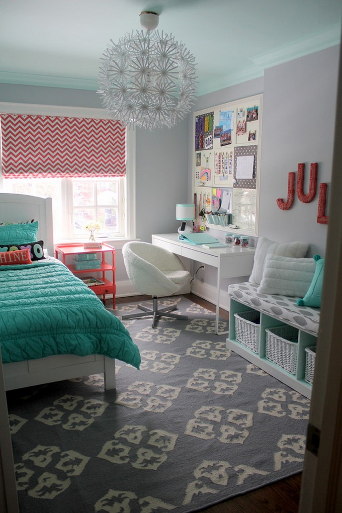 40 Stylish Teen Girl's Bedroom Ideas Homelovr Best Decorating Ideas For Teenage Girl Bedroom
