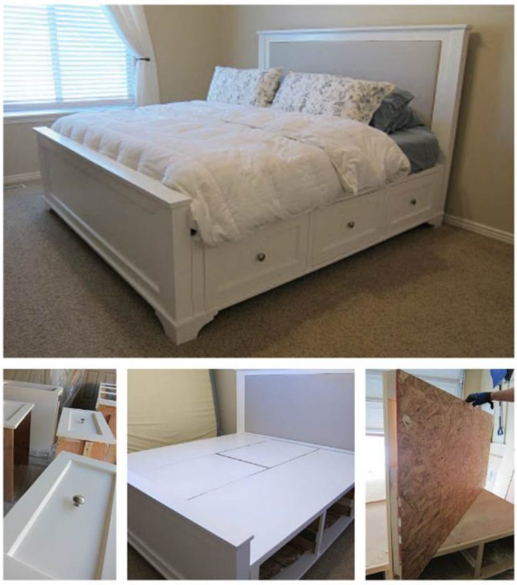 creative diy king size bed - Diy King Size Bed Frame
