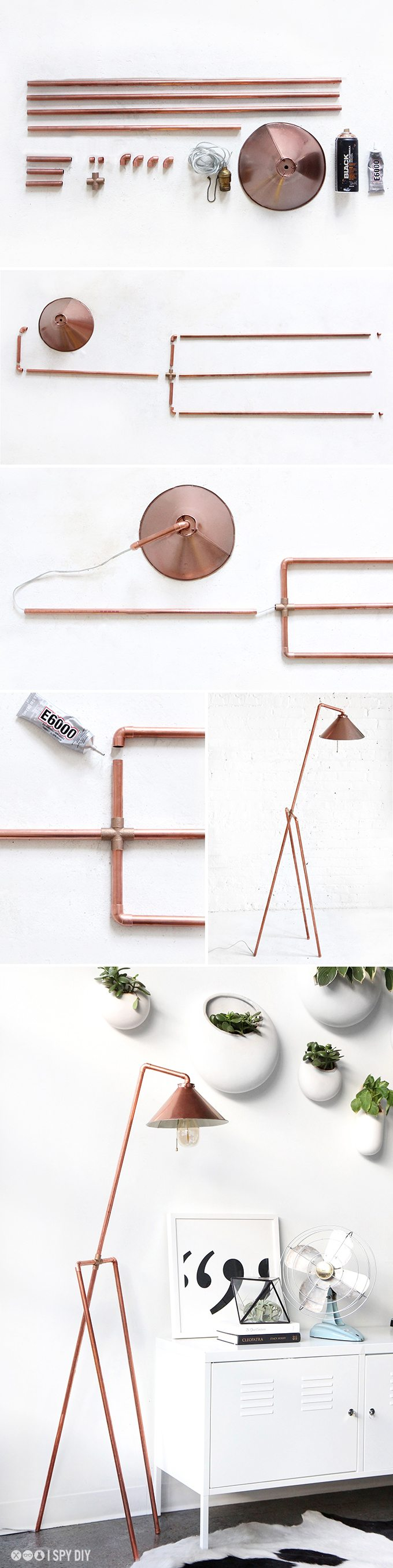 DIY Copper Pipe Floor Lamp