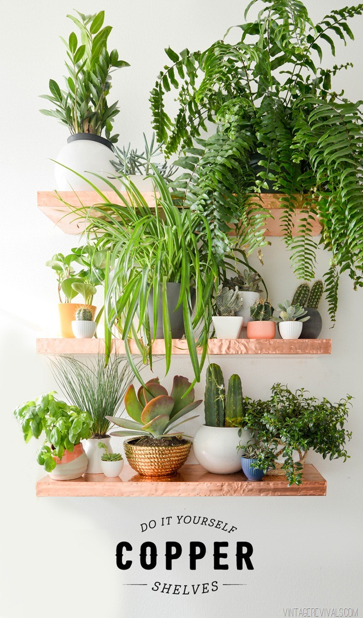 DIY Copper Shelves