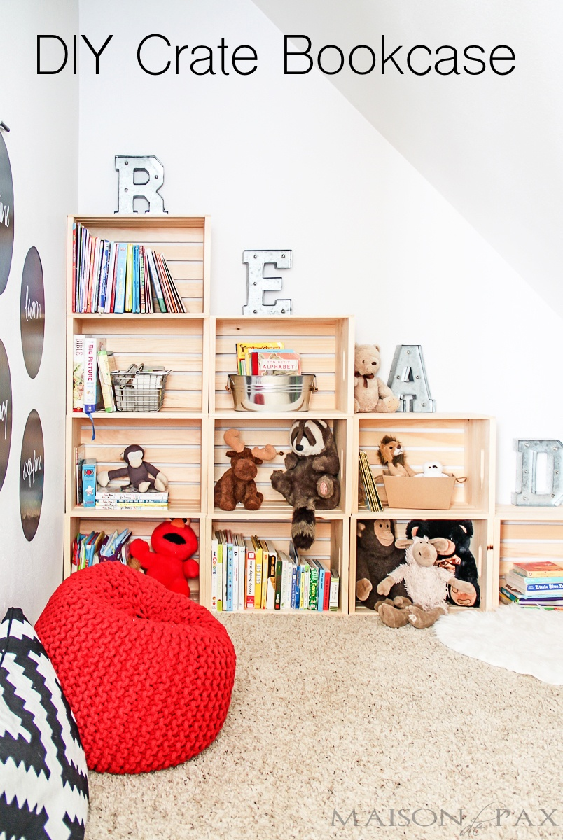 DIY Crate Bookcase