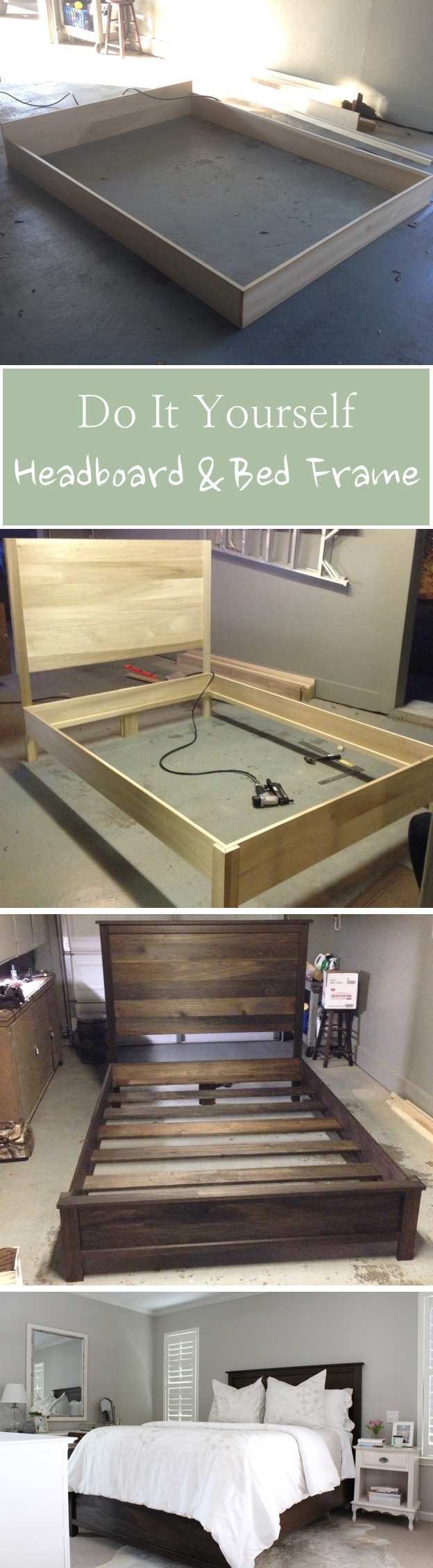 DIY Headboard & Bed Frame
