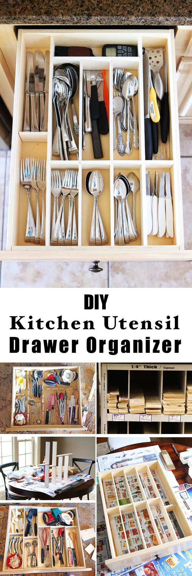 organizing drawer kitchen alert organizer pin curb chaos drawers flatware updating