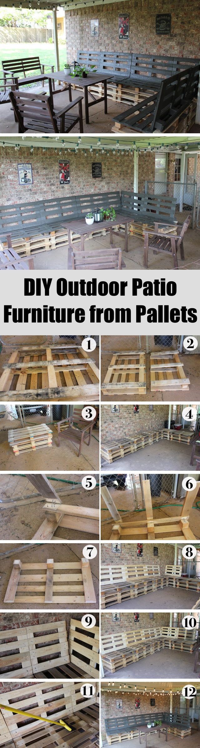 Patio Furniture from pallets, pallet furniture, how to make furniture from pallets