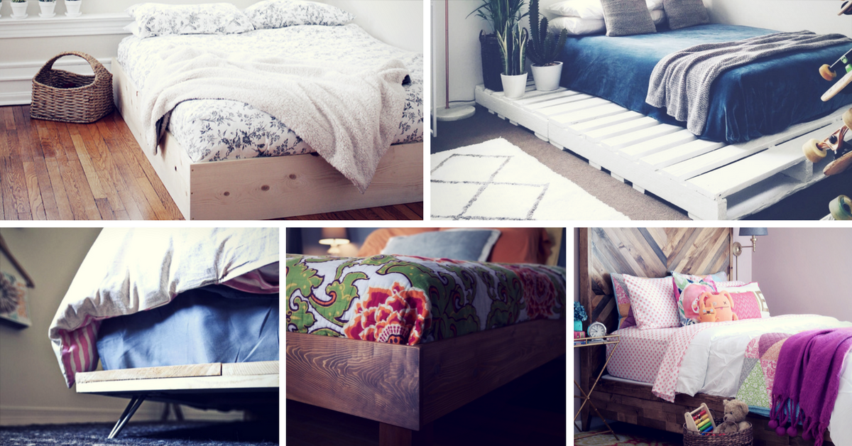 25 easy diy bed frame projects to upgrade your bedroom for Diy for your bedroom