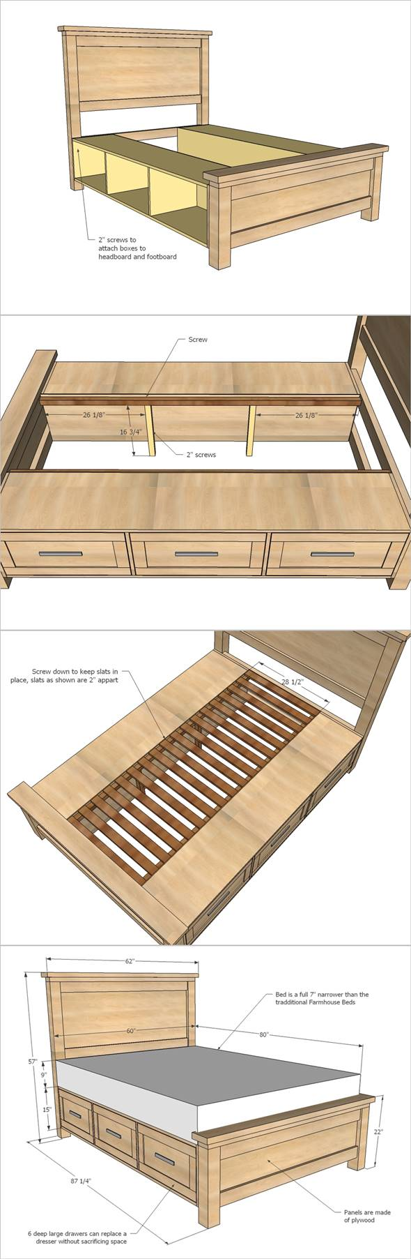 36 Easy Diy Bed Frame Projects To