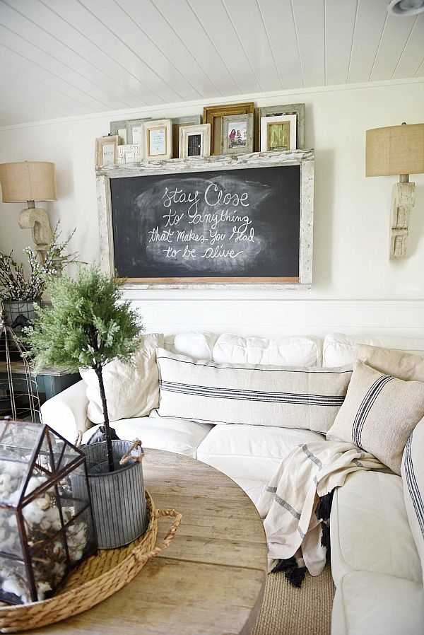 Decorating Ideas For Living Room Part - 47: Rustic Chalkboard Wall