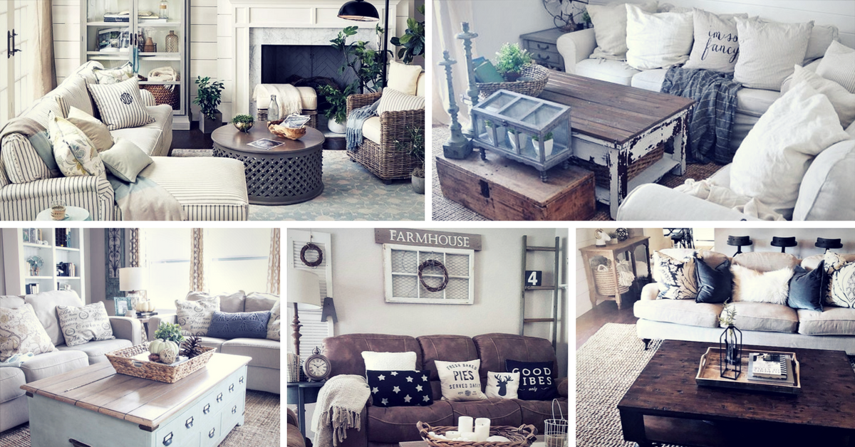 rustic farmhouse living room decor ideas for your home - Farmhouse Living Room Furniture
