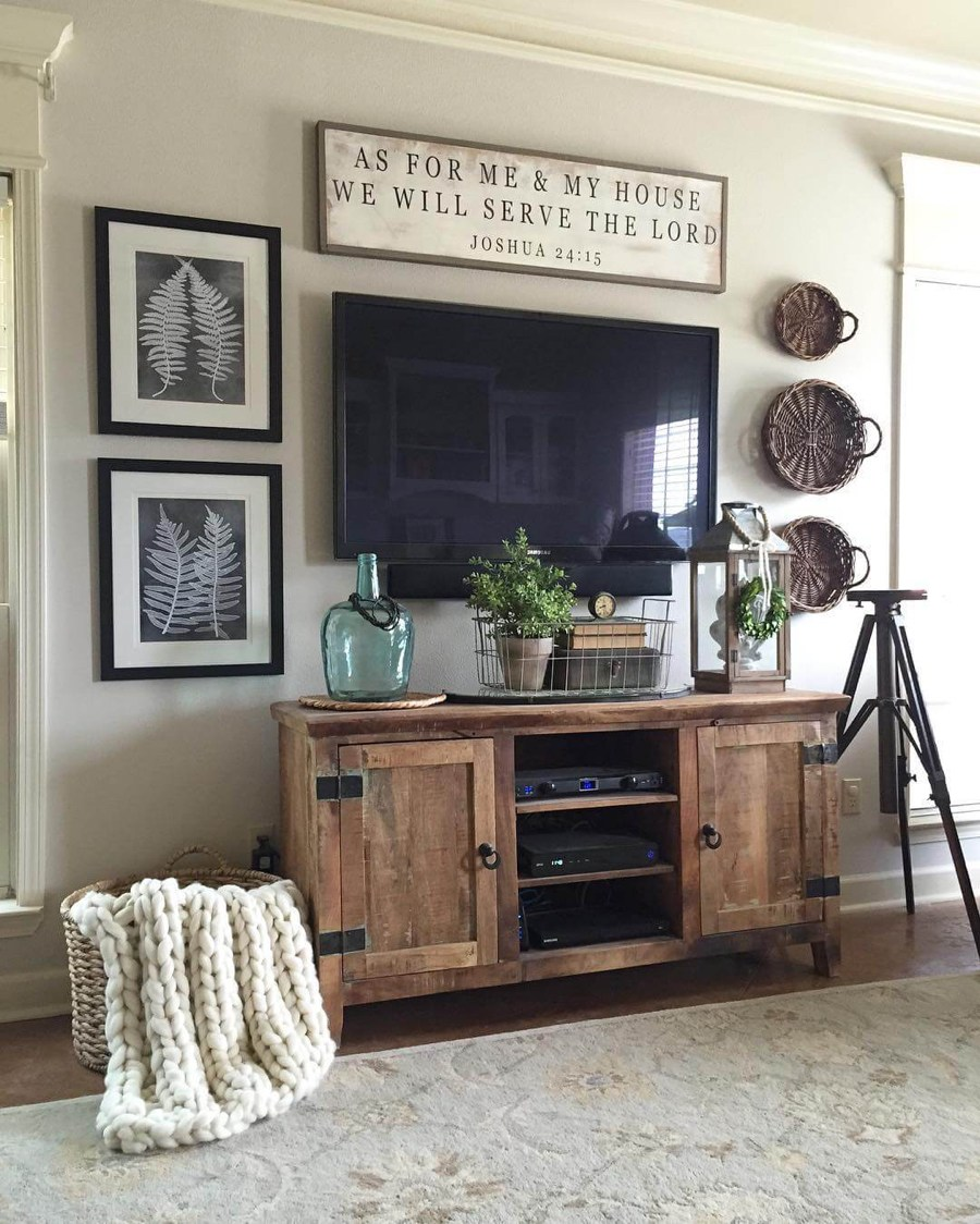 rustic tv console cabinet - Rustic Farmhouse Decor
