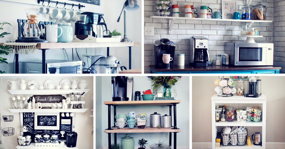 30 Charming Diy Coffee Station Ideas For All Coffee Lovers