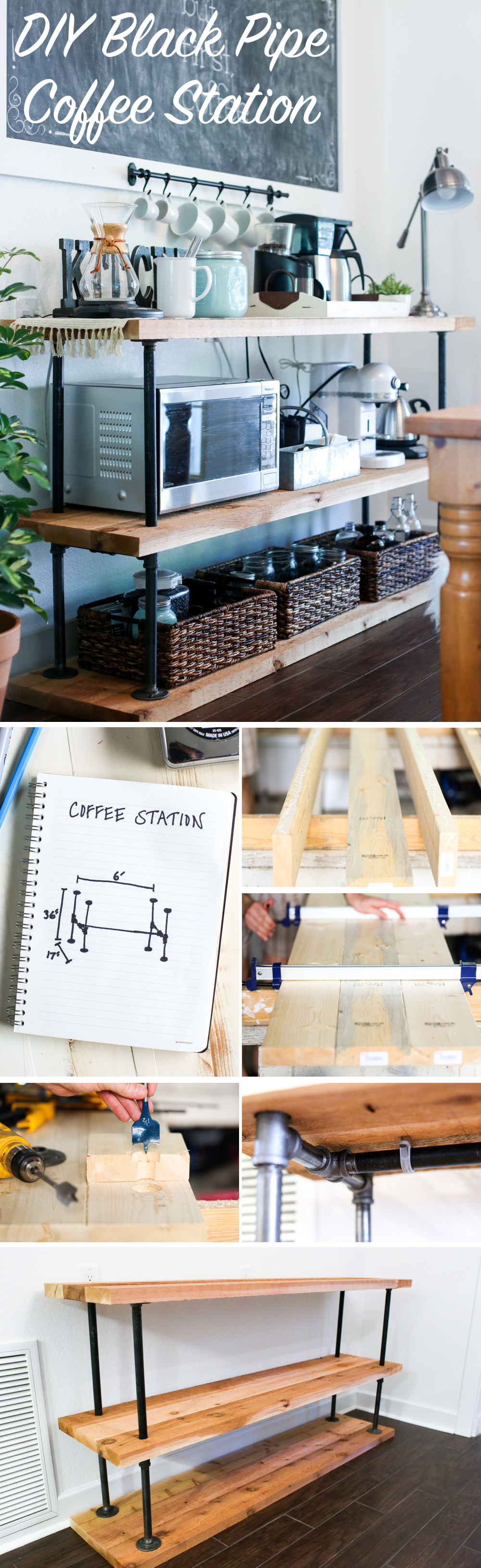DIY Black Pipe Coffee Station