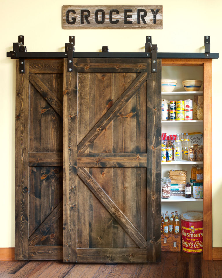 Dreamy Deadwood Style Pantry Barn Door Upgrade : barn door designs - pezcame.com