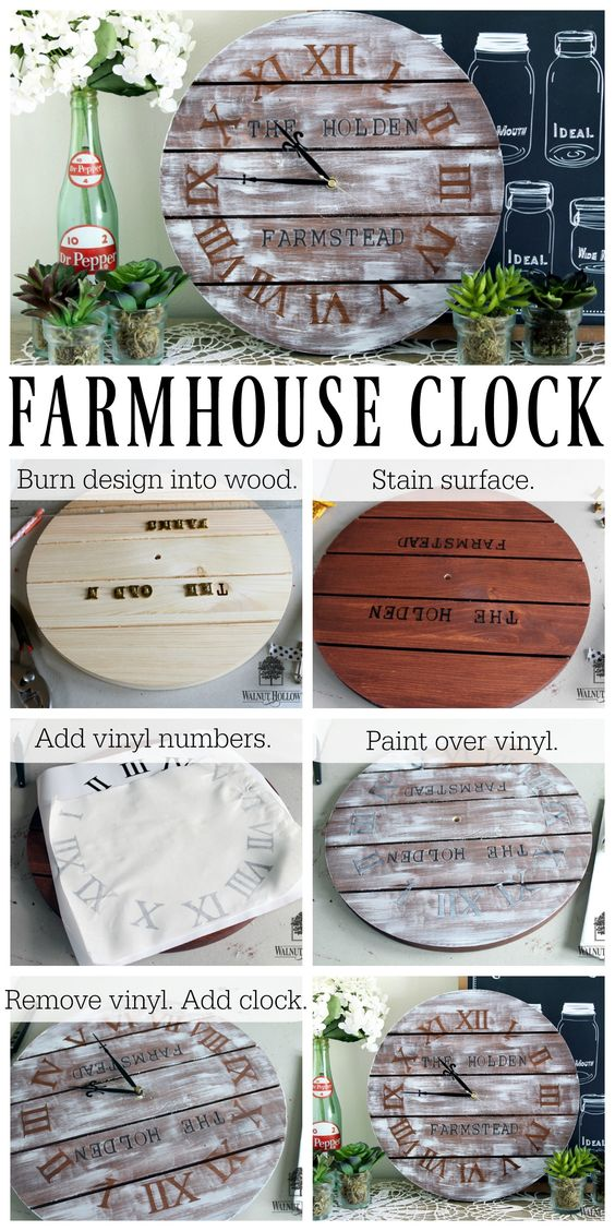 12 rustic wall clock ideas that will add a touch of diy to for Rustic home decor suppliers