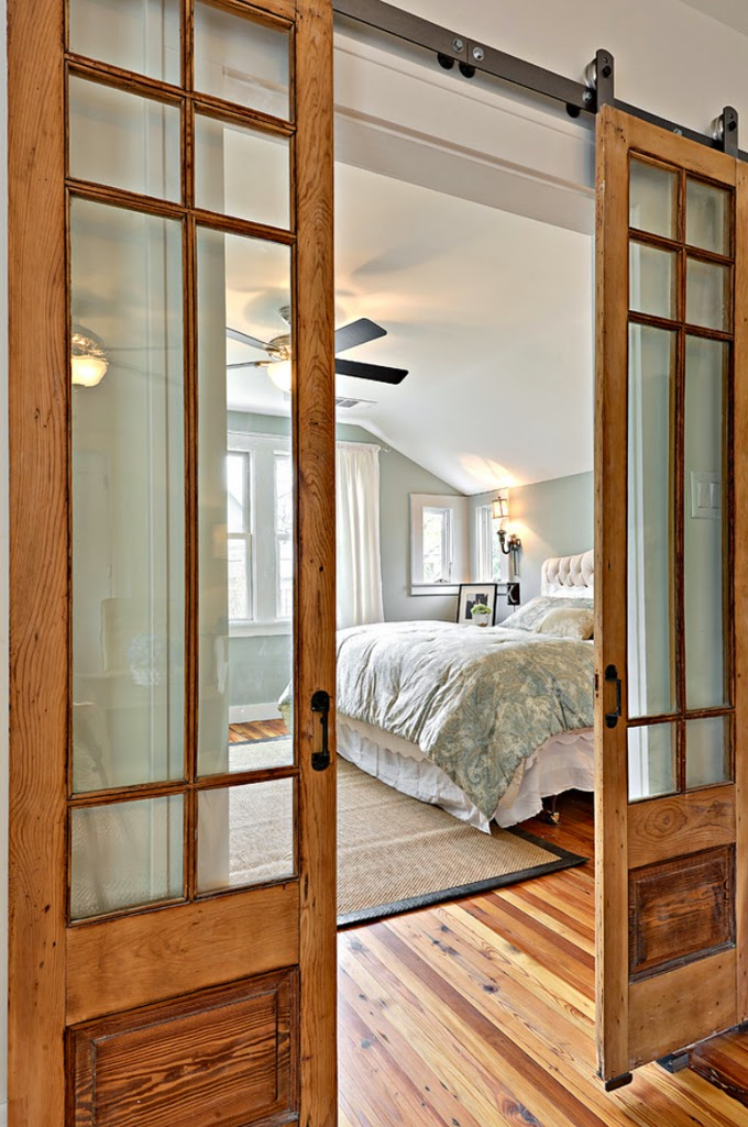 Glass Paneled Sliding Doors