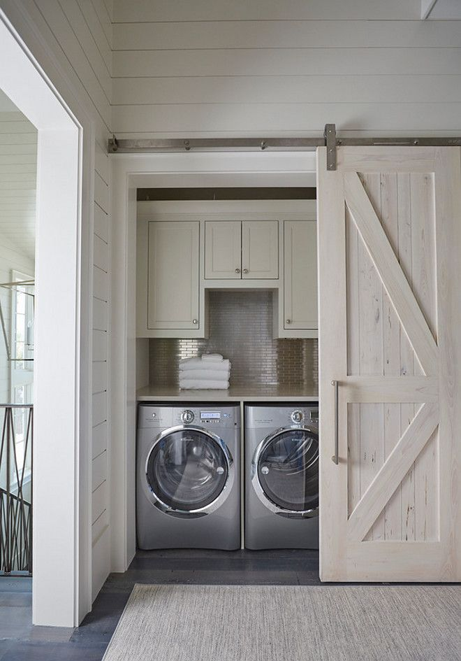Laundry Nook Barn Door