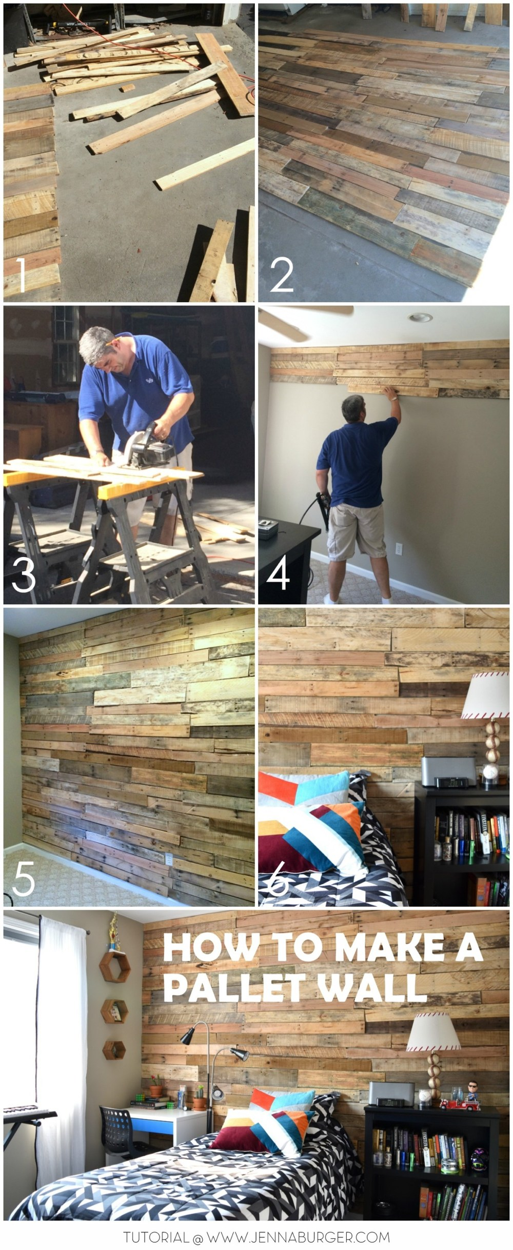 Modern Rustic Teen Room DIY Pallet Wall
