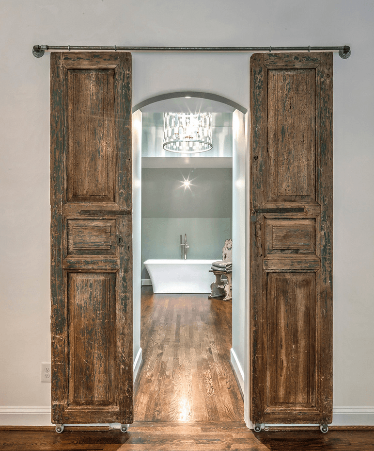 Modern And Rustic Sliding Door