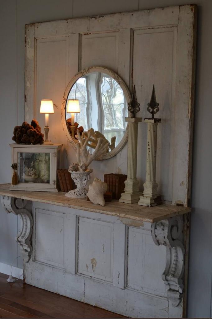 Old Door Display Shelf DIY Project