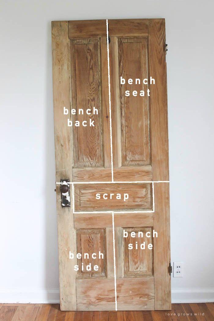 Old Door New Bench Tutorial