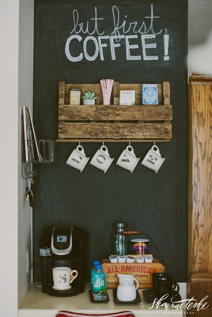 Pallet Shelf Coffee Bar