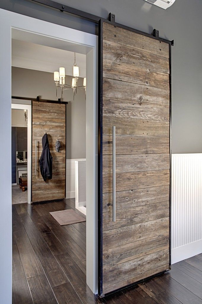 Barn Door Ideas Part - 15: Reclaimed Wood Barn Door
