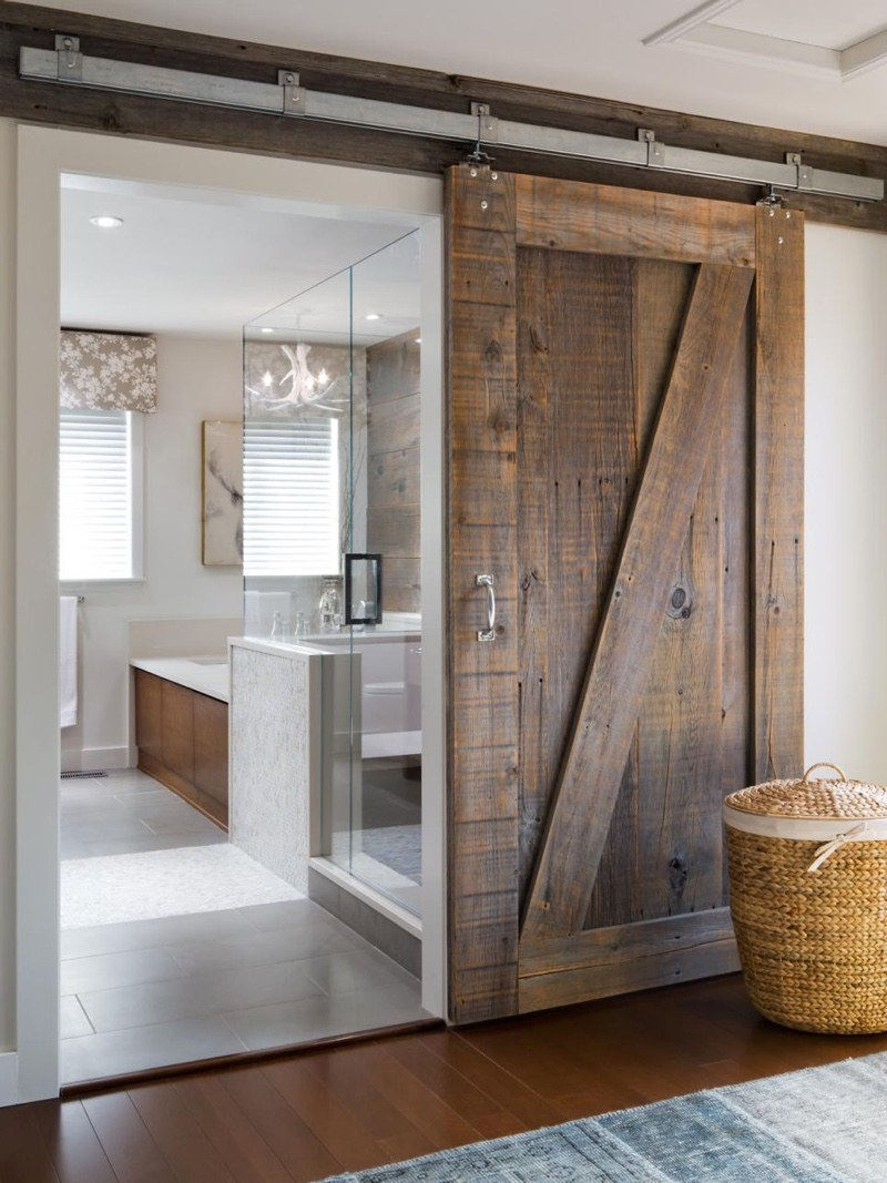 Rustic Siding Barn Door for Bathroom & 27 Awesome Sliding Barn Door Ideas for the Home - Homelovr