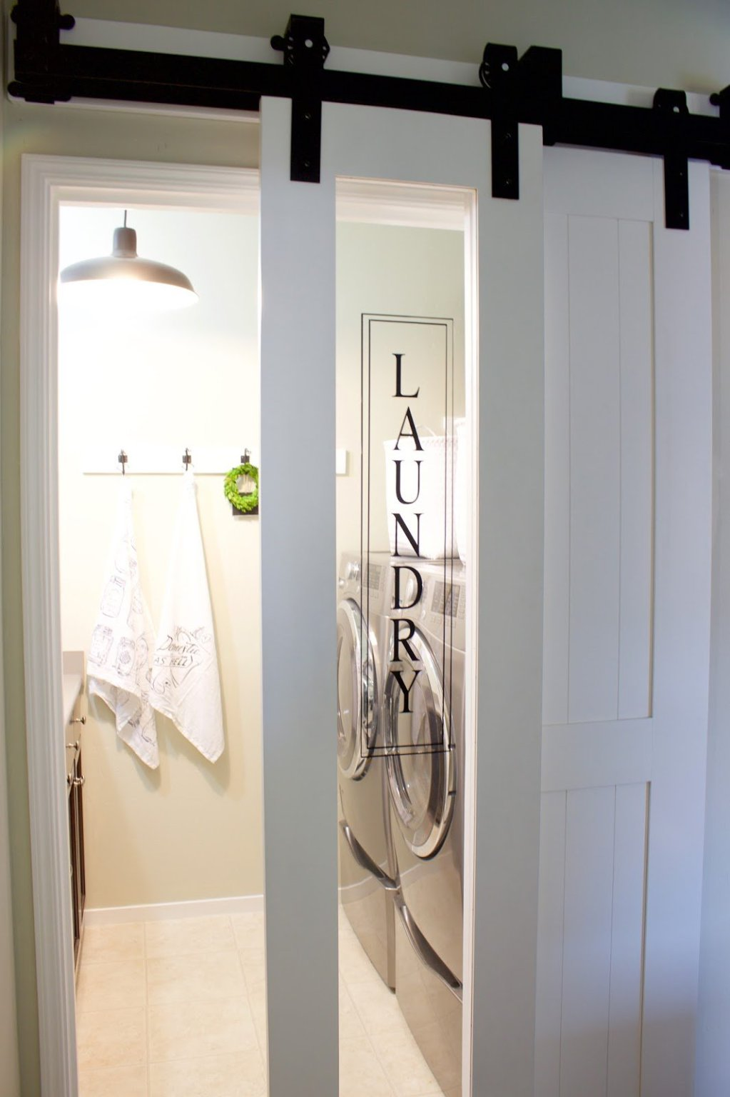 Skinny Laundry Room Barn Door