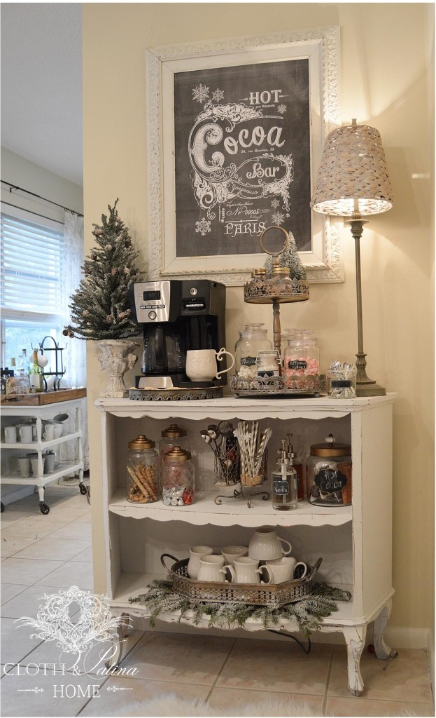 Winter Coffee Station With A French Flair
