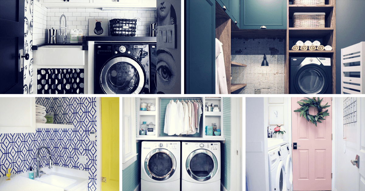 19 Fabulous Ideas How To Add Color To Your Laundry Room