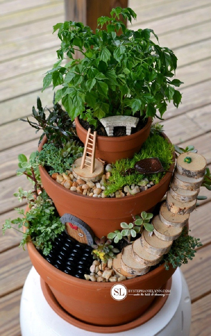 diy flower pot miniature fairy garden - Diy Fairy Garden