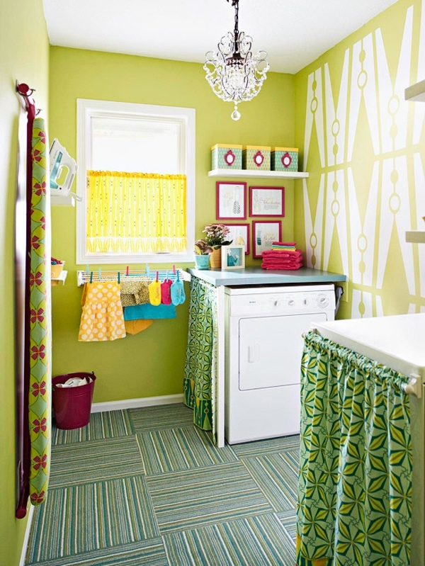 Lime Laundry Room