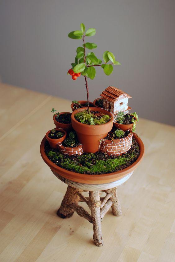 Mini Garden In A Mini Pot