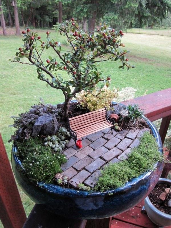 Amazing Miniature Garden In A Pot