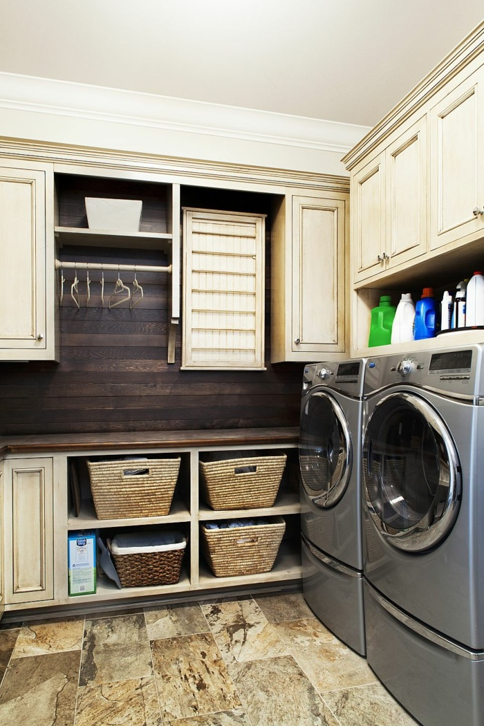 Reclaimed Wood Laundry Room