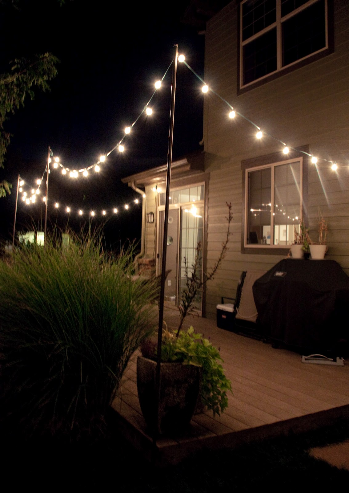Backyard Hanging Lights