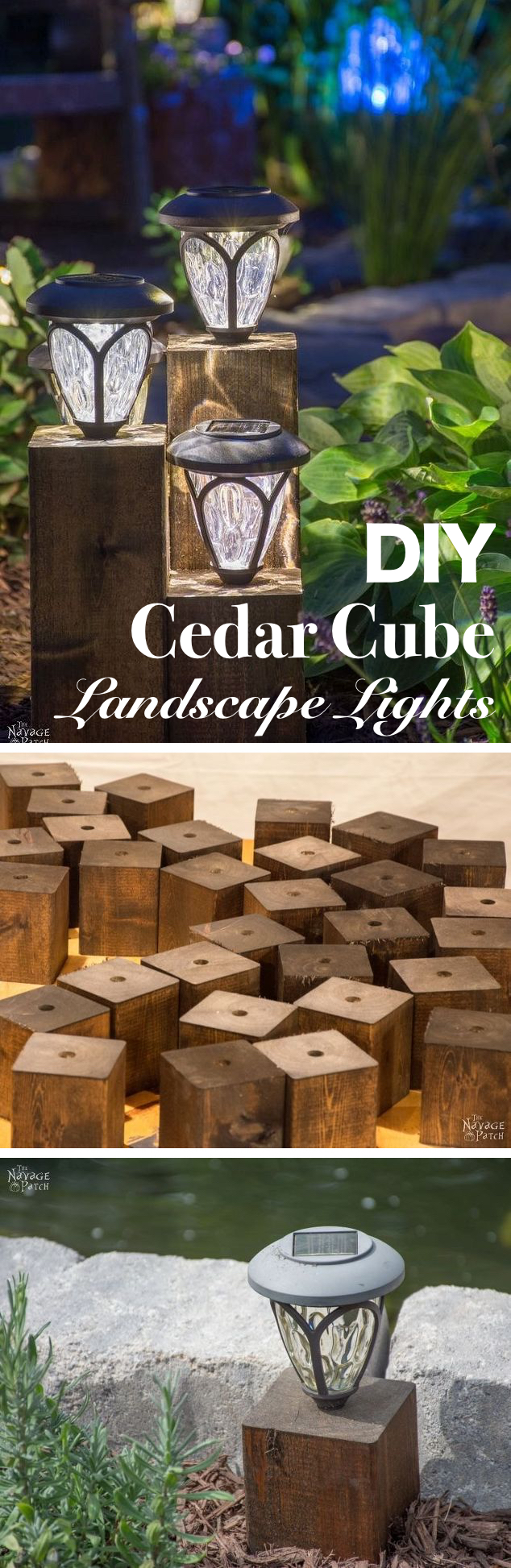 15 brilliant diy outdoor lighting ideas for summer homelovr cedar cube landscape lights diy mozeypictures Gallery