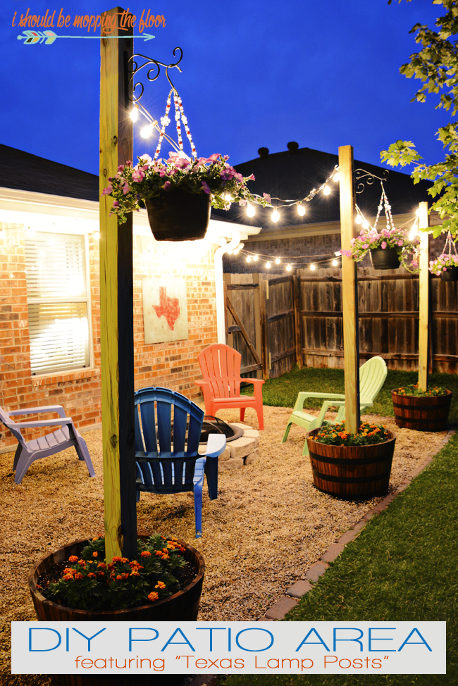 19 inspiring backyard and patio lighting project ideas homelovr cool patio area with texas lamp posts aloadofball Choice Image