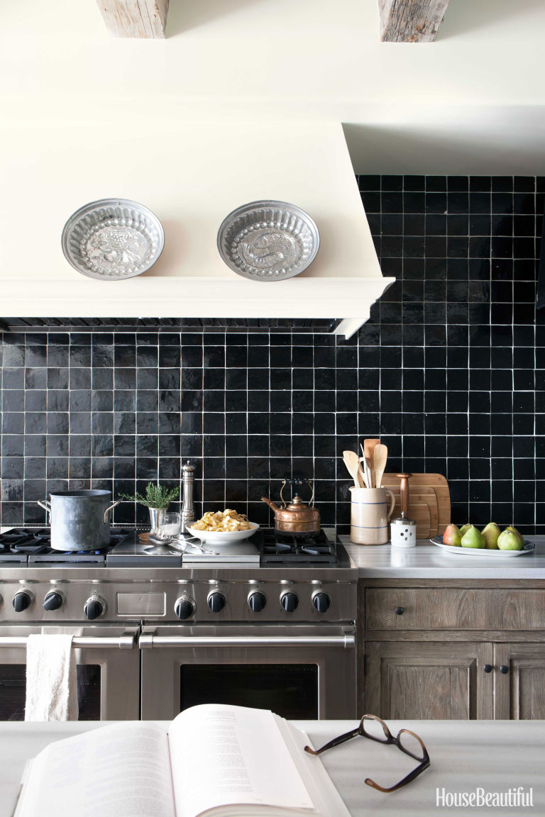 Dark and Dramatic Kitchen Backsplash