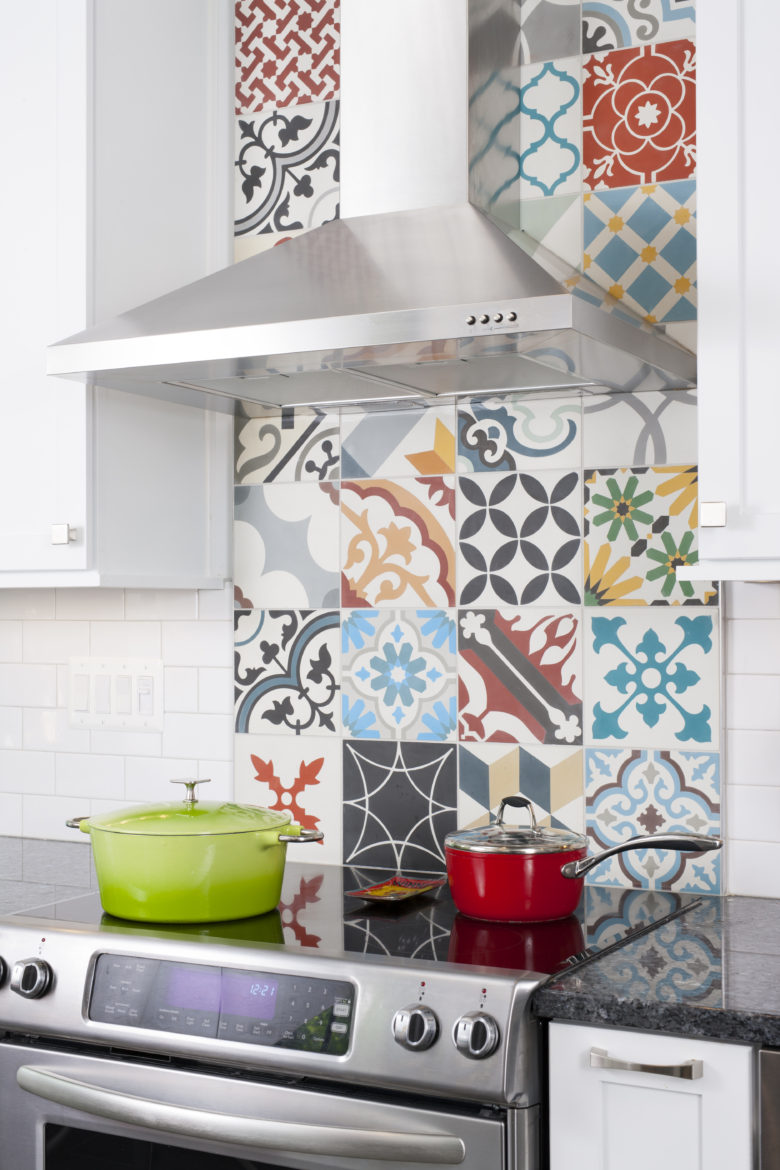 Mix and Match Kitchen Backsplash