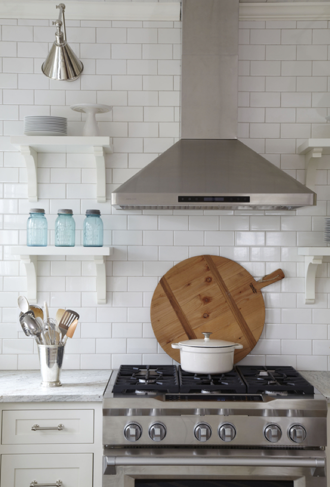 Farmhouse Inspired Kitchen with Subway Tiles
