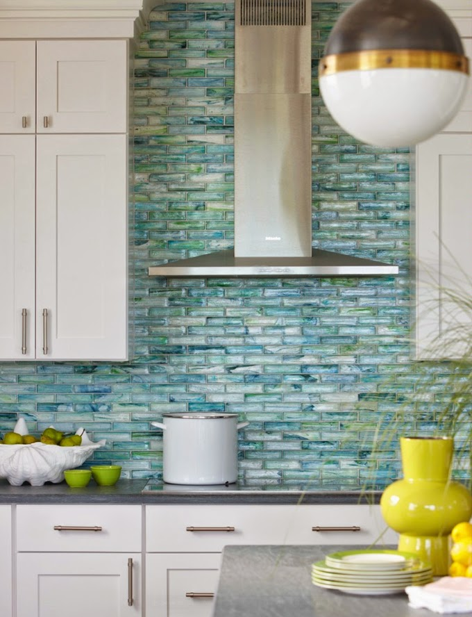Good Vibrant Sea Glass Tile Kitchen Backsplash Tile