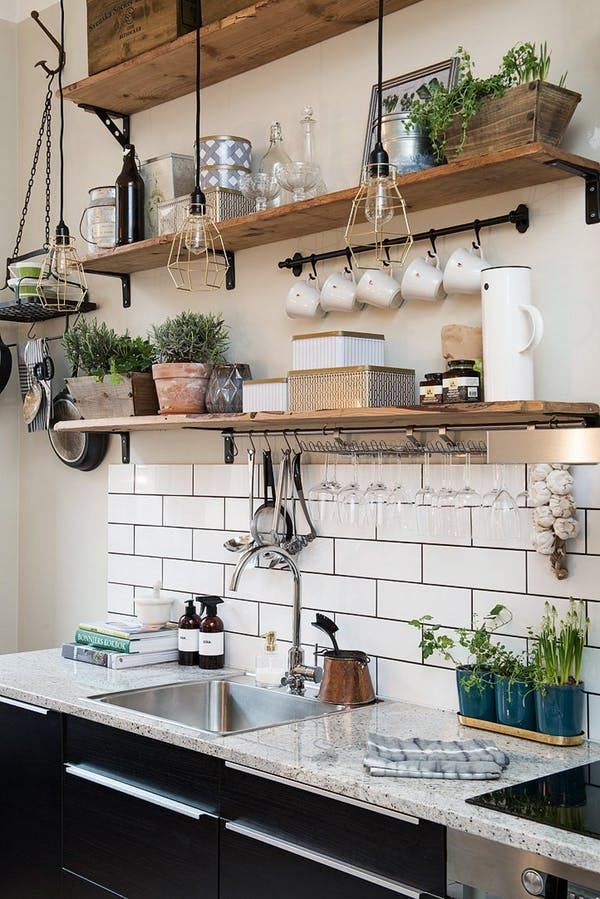 ideas wall creative built in project kitchen dining for white and small shelf shelving