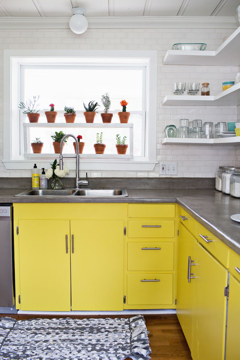 Yellow Kitchen: 20 Gorgeous Kitchen Cabinet Color Ideas For Every Type Of