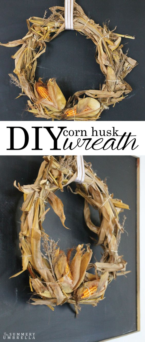 Easy DIY Corn Husk Wreath Perfect for Fall