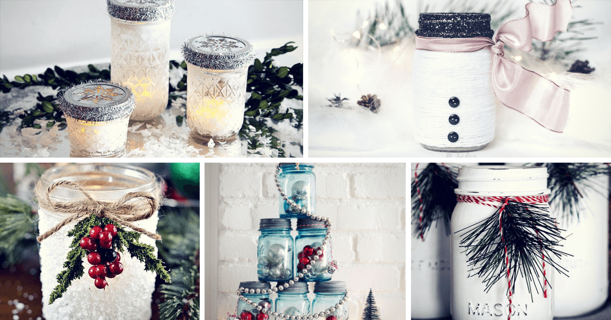 adorable festive mason jar christmas crafts